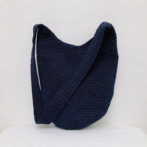 The Sak Navy Woven Shoulder Bag